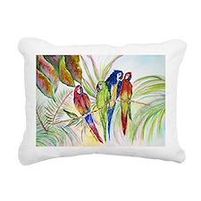 Parrots for duvet Rectangular Canvas Pillow