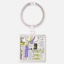 Monday Morning Fix Square Keychain