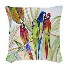 Parrots 10 x 10 Woven Throw Pillow
