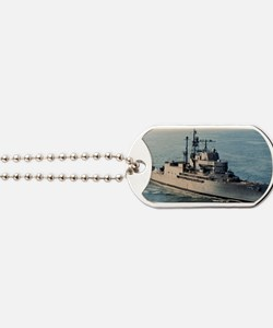 uss norton sound rectangle magnet Dog Tags