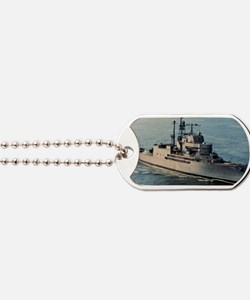 uss norton sound framed panel print Dog Tags