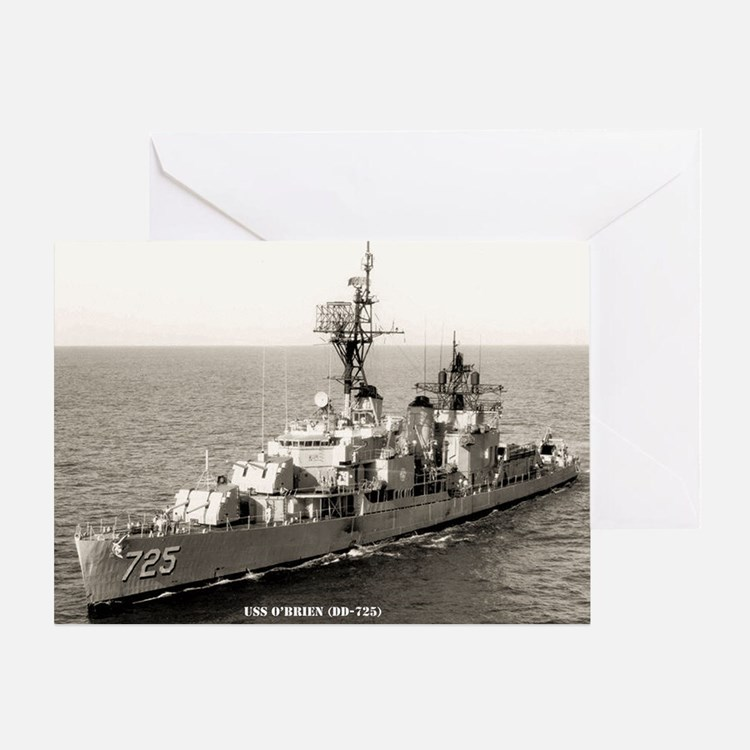 uss obrien framed panel print Greeting Card