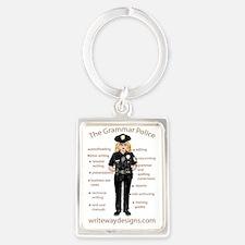Grammar Police Portrait Keychain