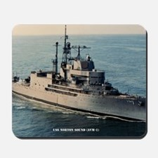 uss norton sound large framed print Mousepad
