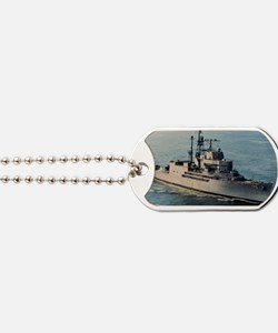 uss norton sound large framed print Dog Tags