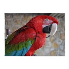 Green Wing Macaw 5'x7'Area Rug