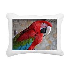 Green Wing Macaw Rectangular Canvas Pillow