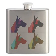 Great Dane a la Warhol Flask
