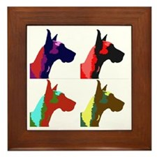 Great Dane a la Warhol Framed Tile