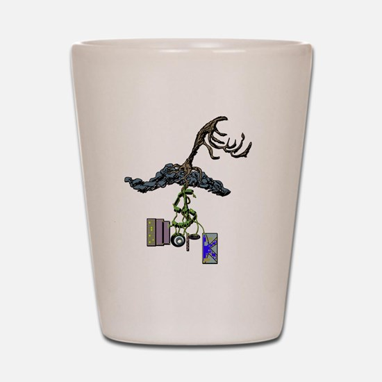 The Root of Money Is Work Shot Glass