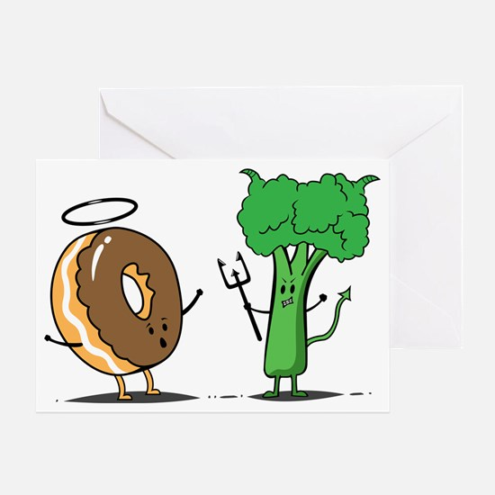 Donuts and beoccoli Greeting Card