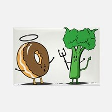 Donuts and beoccoli Rectangle Magnet