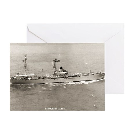 uss oxford large framed print Greeting Card
