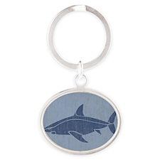 Shark Oval Keychain