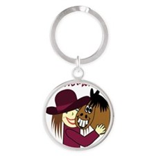 HORSE GAL - LOVE TO BE ME Round Keychain