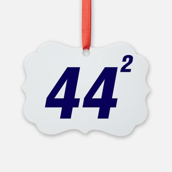 Obama 44 Squared Ornament