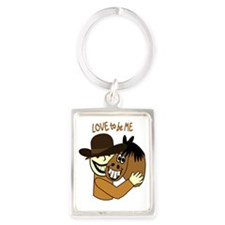 HORSE and GUY - LOVE TO BE ME Portrait Keychain