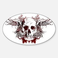 Dark Red Skull Decal