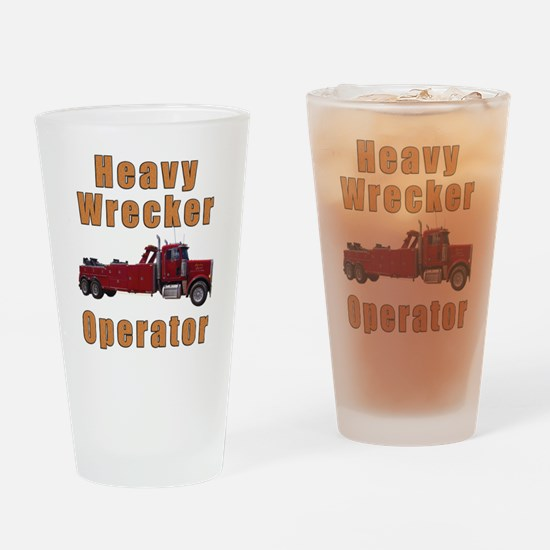 Heavy Tow Truck Drinking Glass