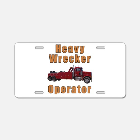 Heavy Tow Truck Aluminum License Plate