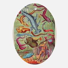 Antique Fish Oval Ornament