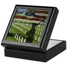 Guard at Arlington National Cemetery Keepsake Box
