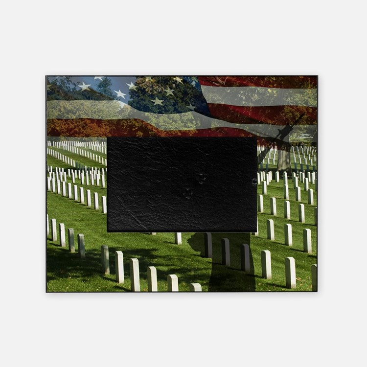 Guard at Arlington National Cemetery Picture Frame