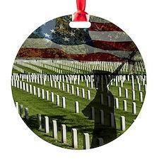 Guard at Arlington National Cemeter Ornament