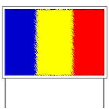 Romanian Flag Car Magnet Yard Sign