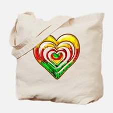 One Love Hearts Tote Bag