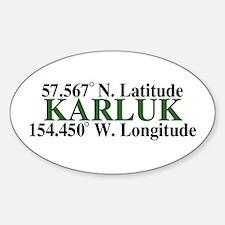 Karluk Latitude Oval Decal