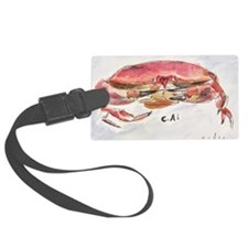 Crab Collage Luggage Tag