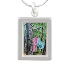 Sheets in the Wind Silver Portrait Necklace