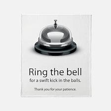 ring bell Throw Blanket