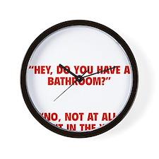 bathroomYard1E Wall Clock