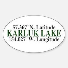 Karluk Lake Latitude Oval Decal