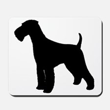 Airedale Black Silhouette Mousepad