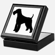 Airedale Black Silhouette Keepsake Box