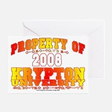 Krypton U Greeting Card