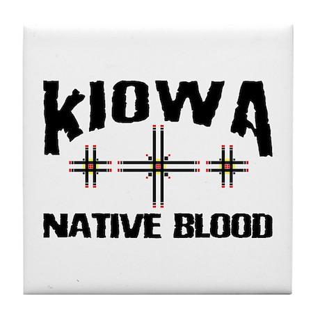 Kiowa Native Blood Tile Coaster