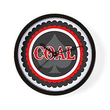 Ace of Coal Wall Clock