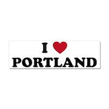 I Love Portland Car Magnet 10 x 3