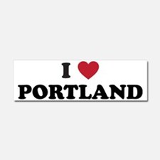I Love Portland Car Magnet 10 x 3