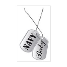 Cute Navy Baby Dog Tags Decal