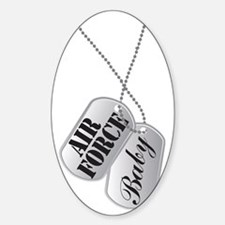 Air Force Baby Dog Tags Sticker (Oval)