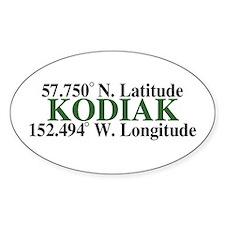 Kodiak Latitude Oval Decal