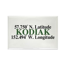 Kodiak Latitude Rectangle Magnet