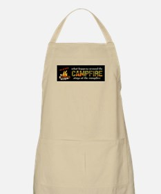 What Happens around the campfire Apron