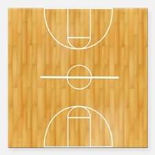 "Basketball Court Square Car Magnet 3"" x 3"""
