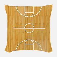 Basketball Court Woven Throw Pillow